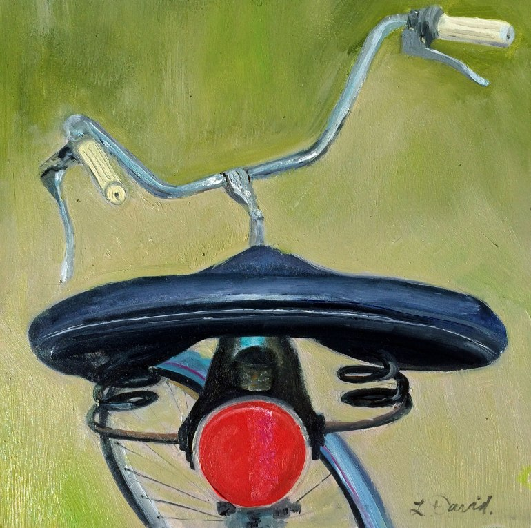 Lisa David bike Oil