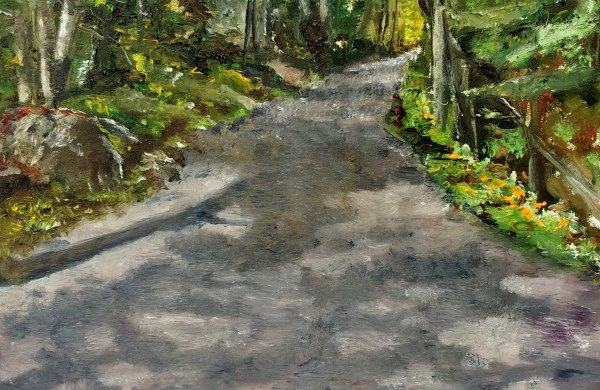 Road with shadows