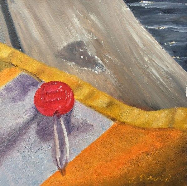 Lisa David Daily Painting, lollipop
