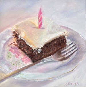 Lisa David daily painting cake