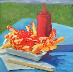 Lisa David daily painting frenchfries