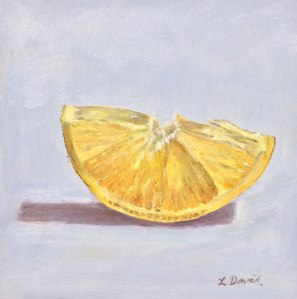 Lisa David Daily Painting lemon slice