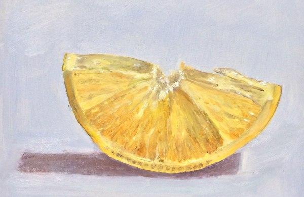 Lisa David Daily Painting lemon slice