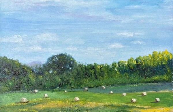 Lisa David summer fields oil painting