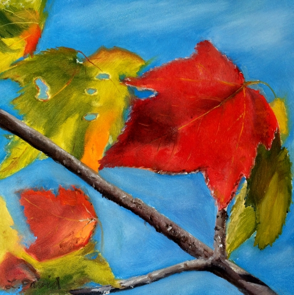 Lisa David Leaf painting