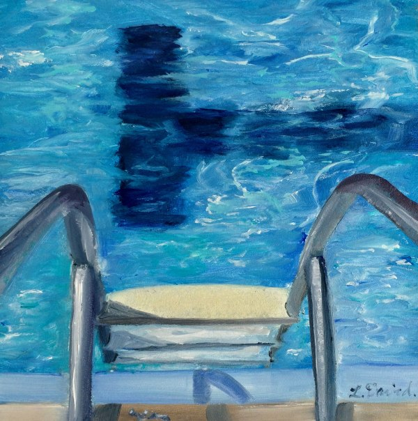 Lisa David pool ladder