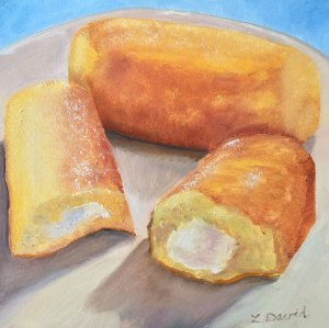 Lisa David Daily painting, twinkies