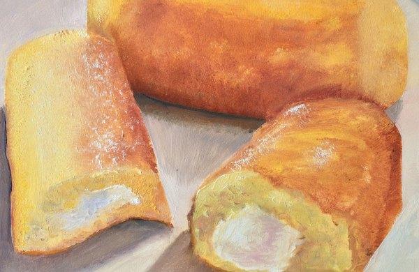 Lisa David Daily painting, twinkies