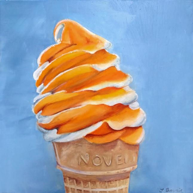 Orange twist icecream cone