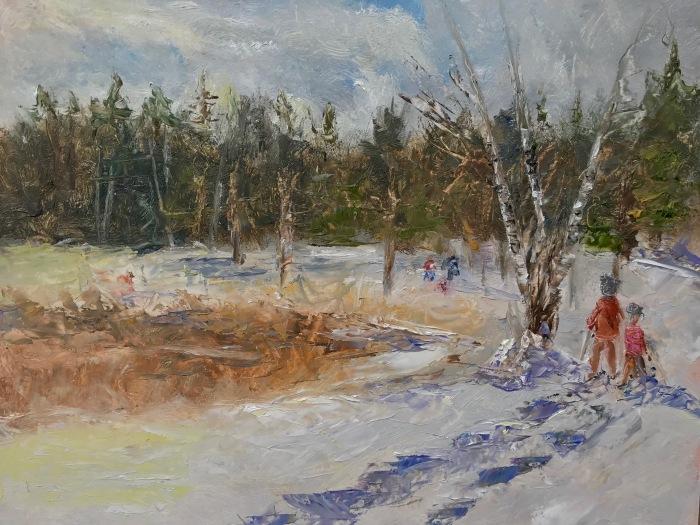 Plein Air Painting by artist Lisa David