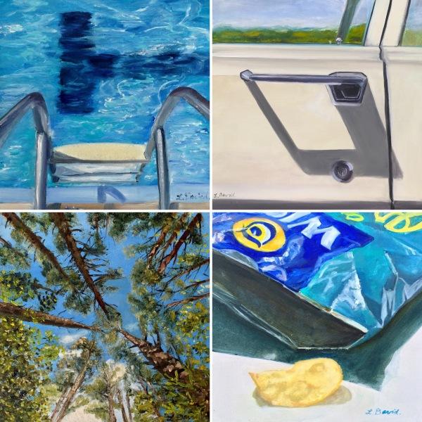 Lisa David Art square paintings