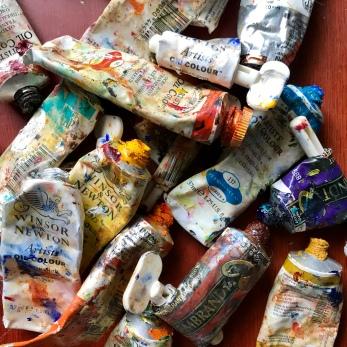 lisa david painting blog tubes of paint