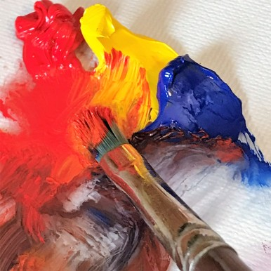 lisa david painting brush with paint