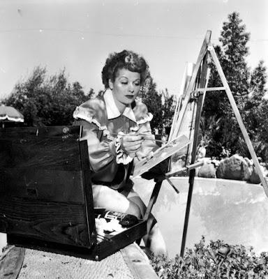 Lucille Ball Plein Air Painting