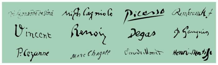 artist signatures