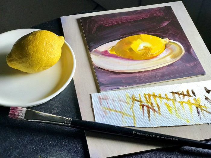 Lisa David artist blog lemon