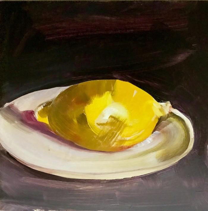lisa david artist blog painting lemon brushtrokes