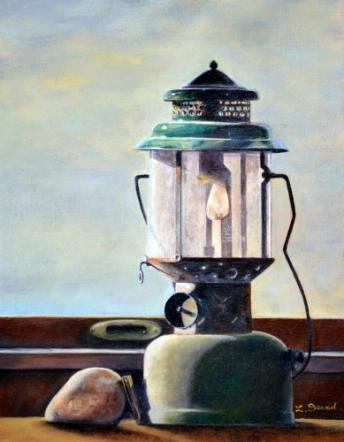 "Painting, Coleman Lantern, 11"" x 14"""