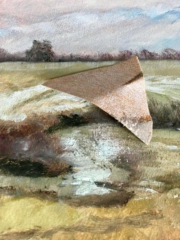 Lisa David artist sandpaper