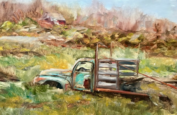 Lisa David old truck painting